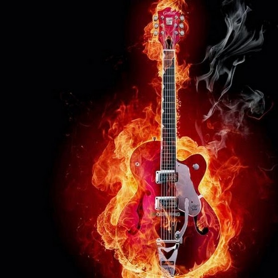 Огненная гитара схема для вышивки 129