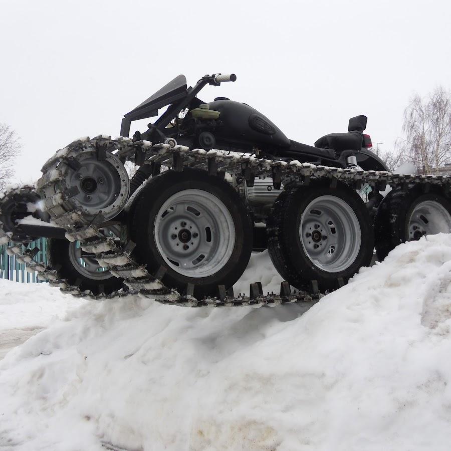 Как сделать из мотоцикла урал гусеничный снегоход