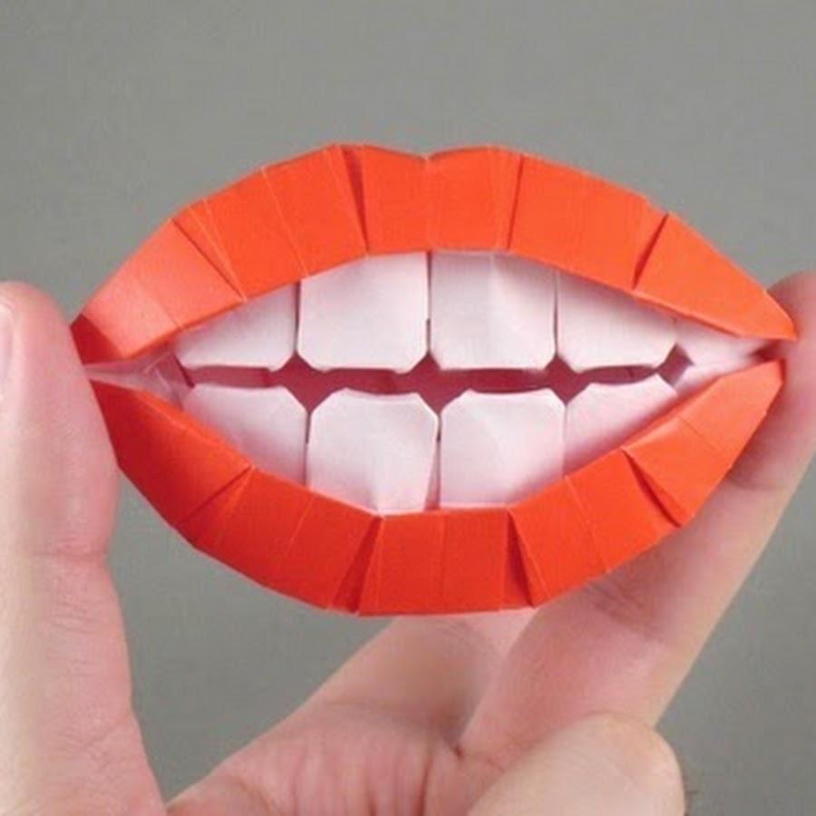 Как сделать губы из бумаги видео