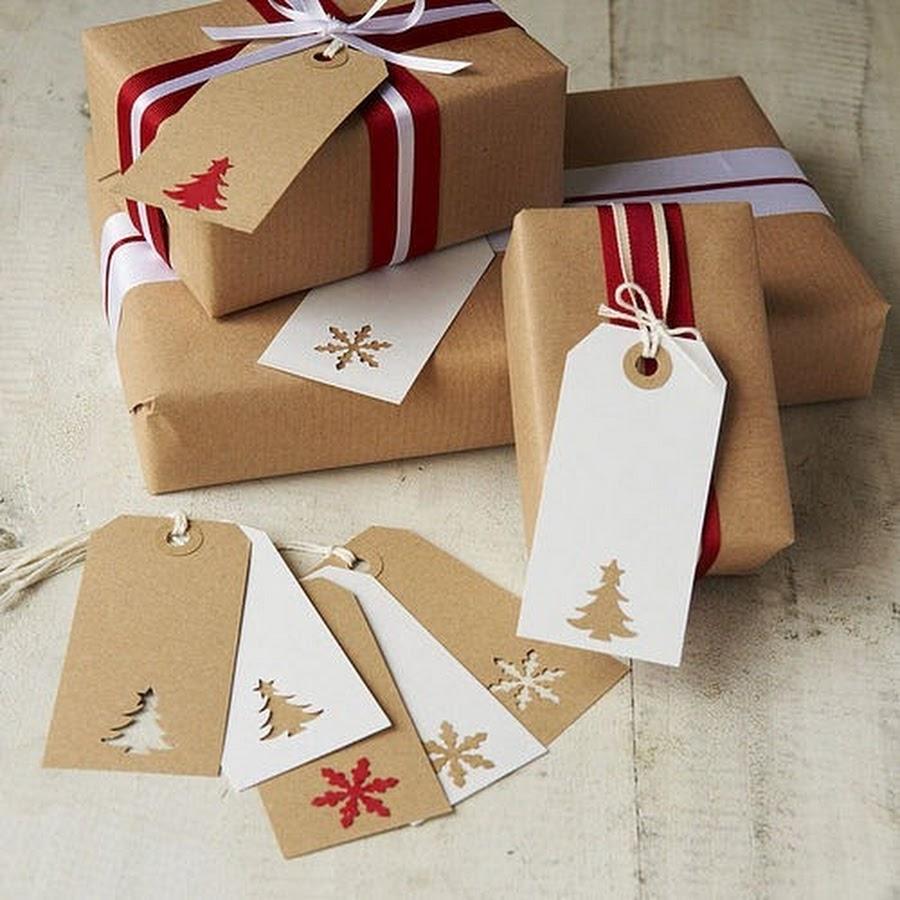 Упаковку новогоднего подарка своими руками