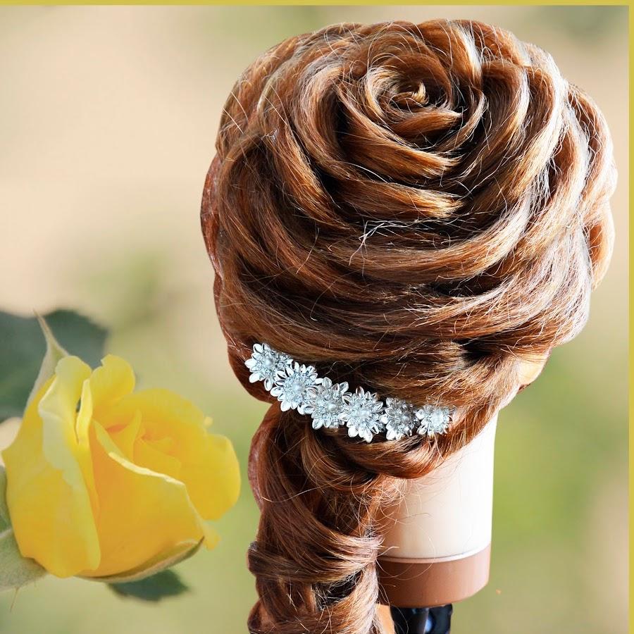 Как на волосах сделать розу из косы