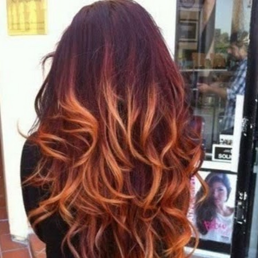 Балаяж на рыжие волосы в домашних условиях пошаговое