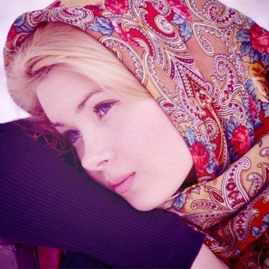 Красивые фото девушек с платками