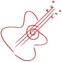 Electric guitar logo design