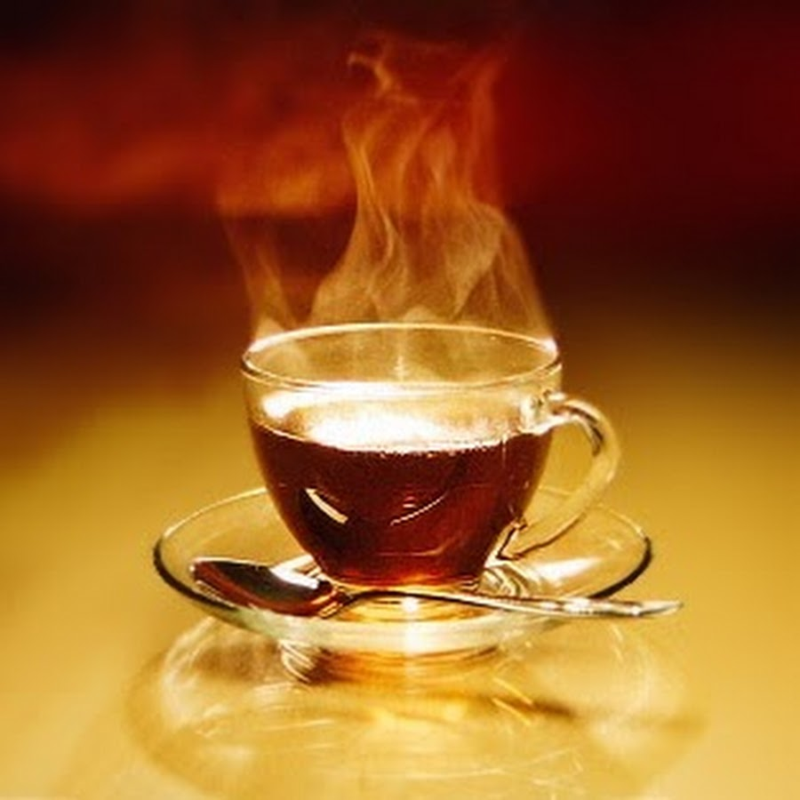Выпив горячего чая