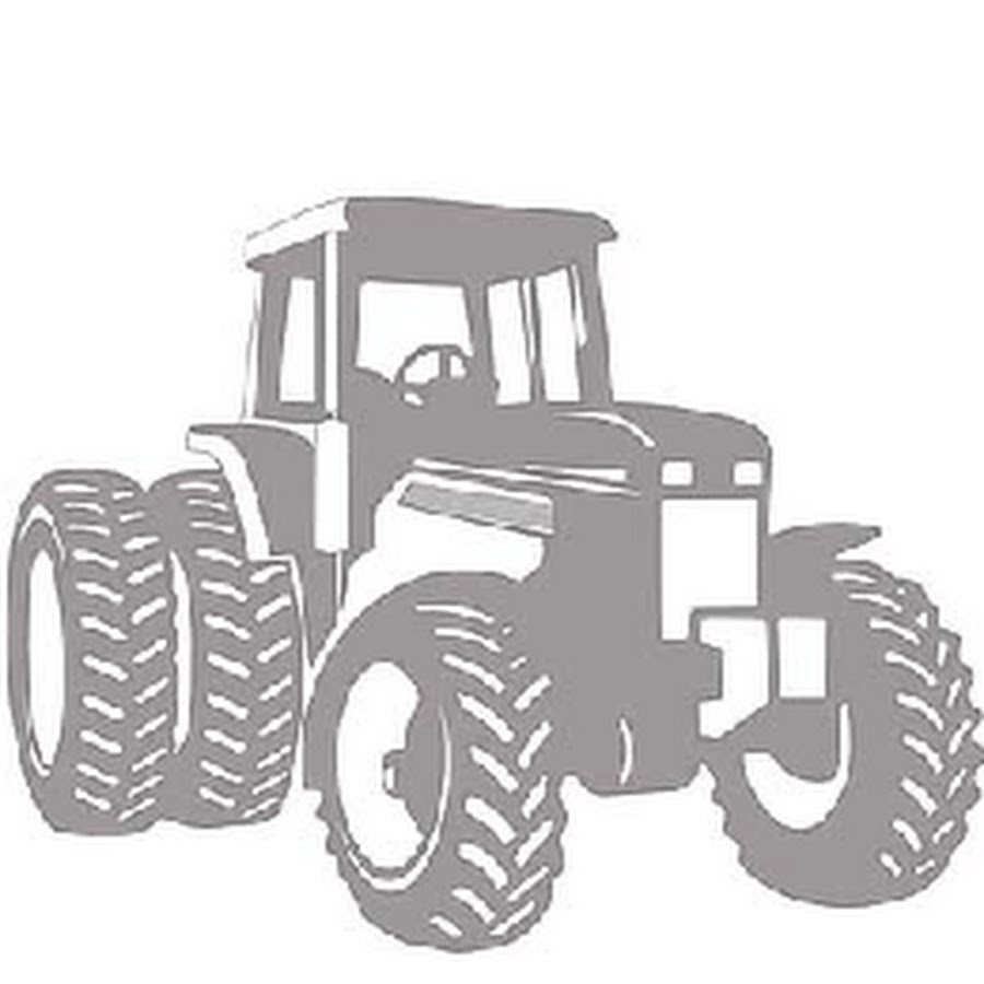 White tractor logo