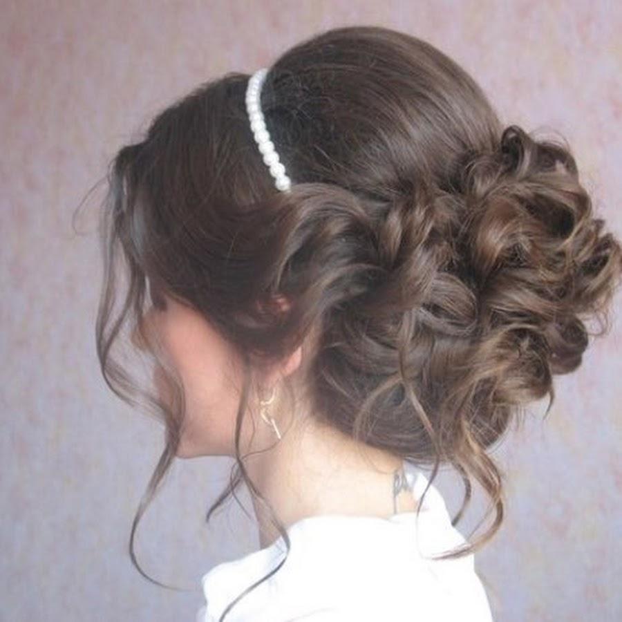 Фото причесок на средние волосы на выпускной
