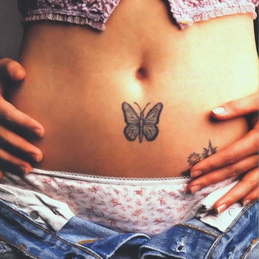 Татуировка ниже живота у девушки фото