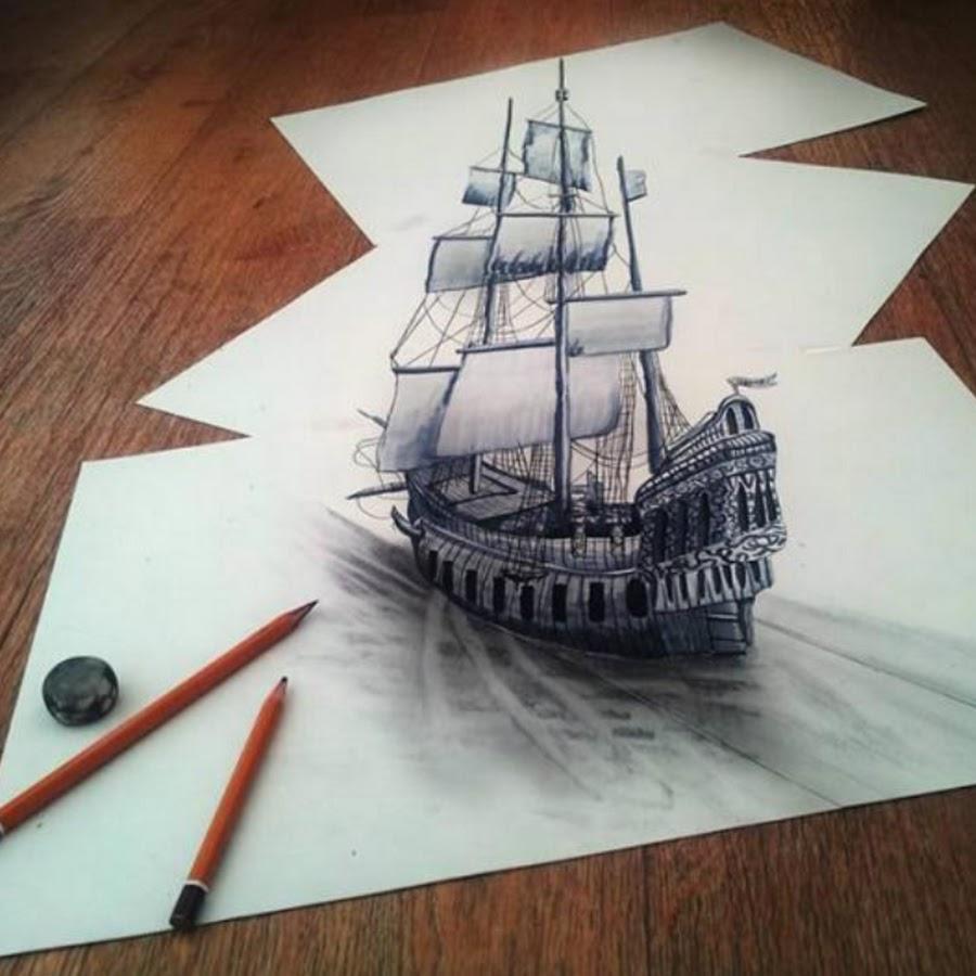 3д рисунки рисовать поэтапно