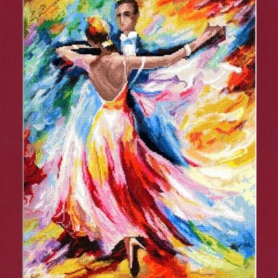 В вихре танца вышивка бисером