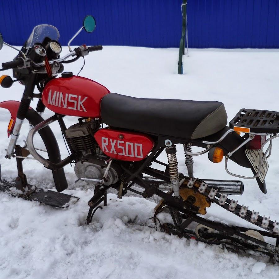 Как из мотоцикла минск сделать снегоход 143