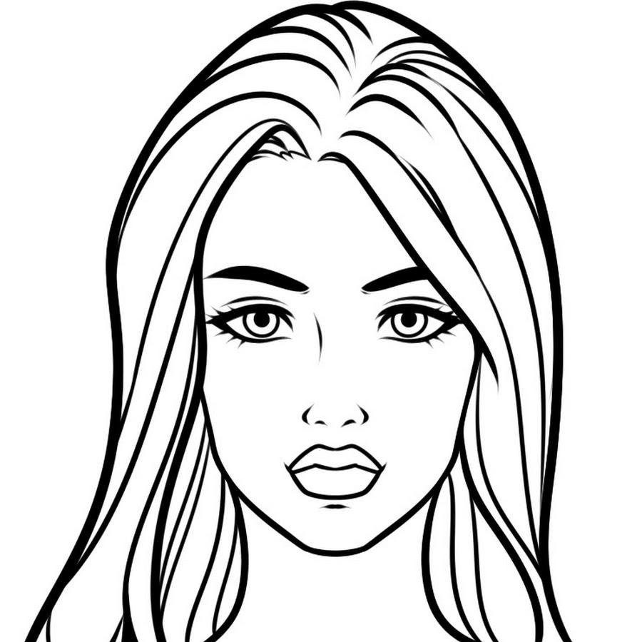 Как нарисовать девушку портрет