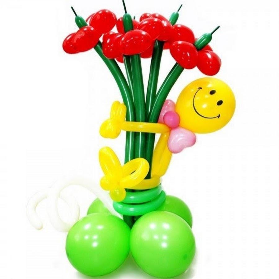 Цветы фигуры из шаров