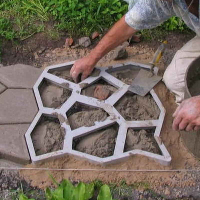Тротуарная плитка своими руками из подручных материалов 24