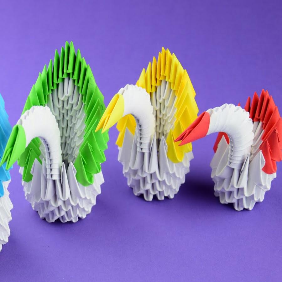 модульное оригами схема сборки елки