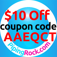 $10 OFF PipingRock.com coupon code: AAEQCT