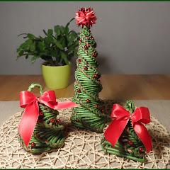 kmz weihnachtsbaum aus papierr llchen christmas tree doovi. Black Bedroom Furniture Sets. Home Design Ideas