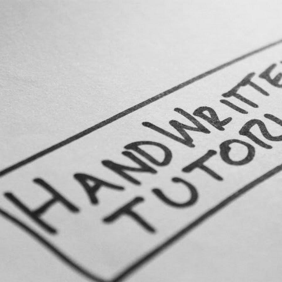 Handwritten Tutorials - YouTube