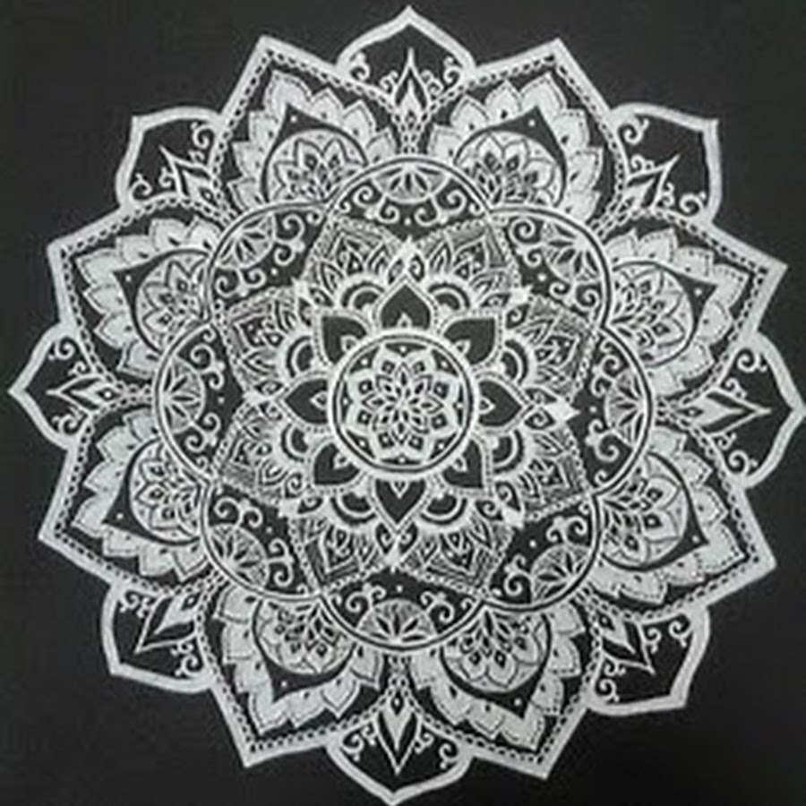mandala background and black and white image