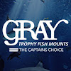 Gray Trophy Fish Mounts
