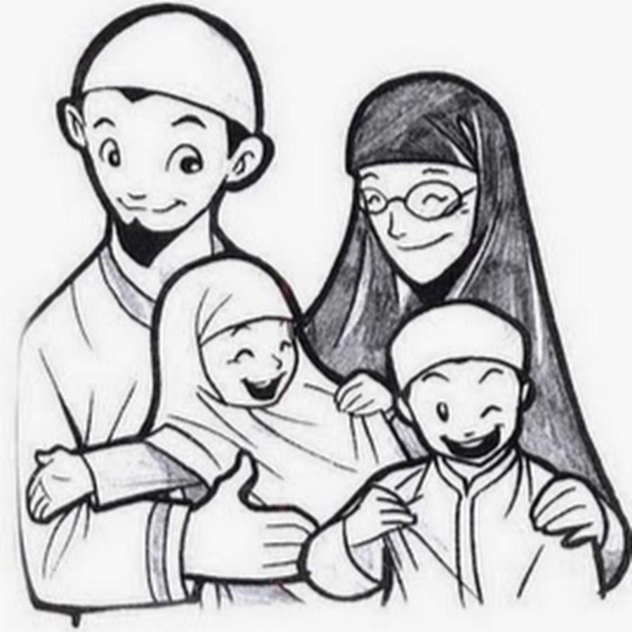 Sketsa Gambar Keluarga Bahagia Sobsketsa