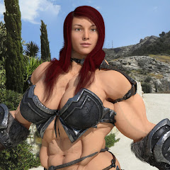 3D girl muscle growth
