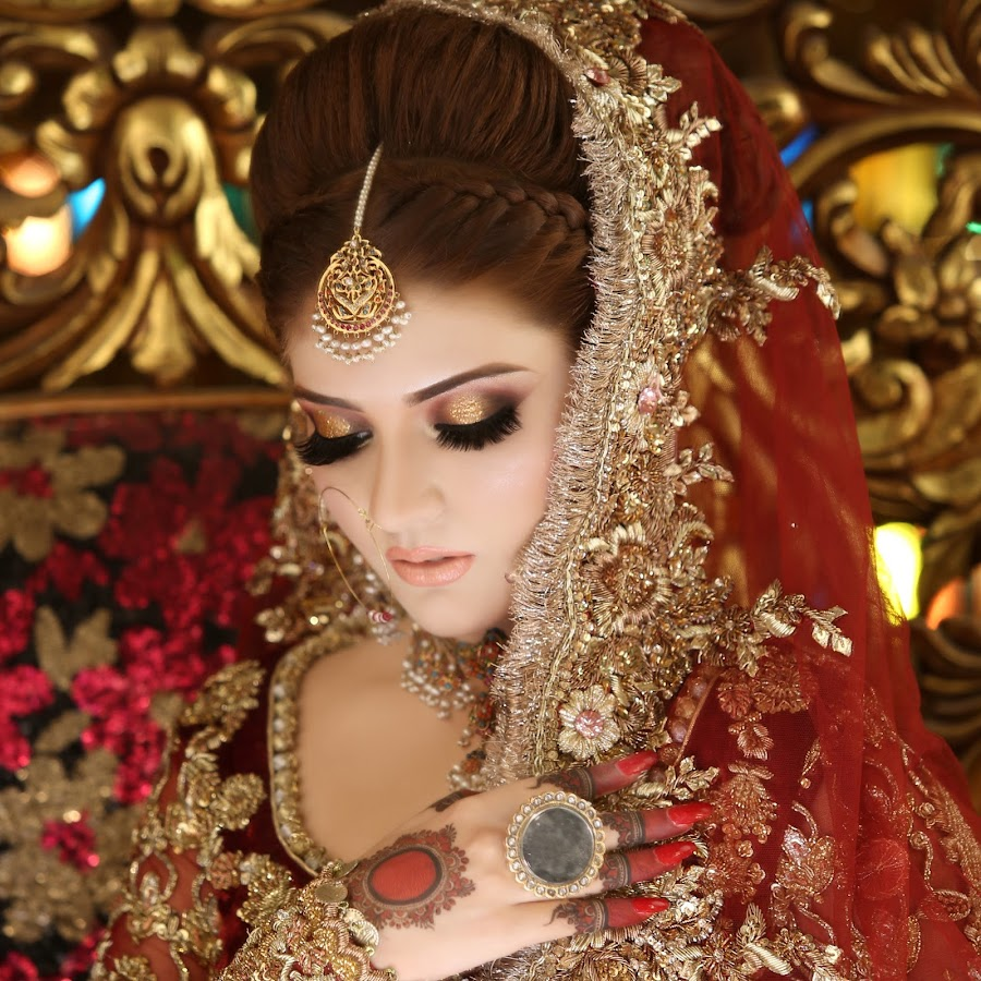 kashees beautiful bridal hairstyle makeup beauty parlour