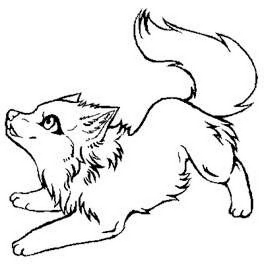 pin drawn howling wolf colouring picture 3. howling wolf sketch ...