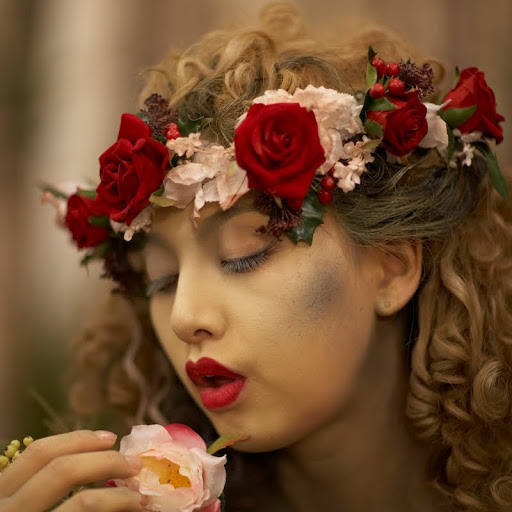 Image result for rose flower hairstyle