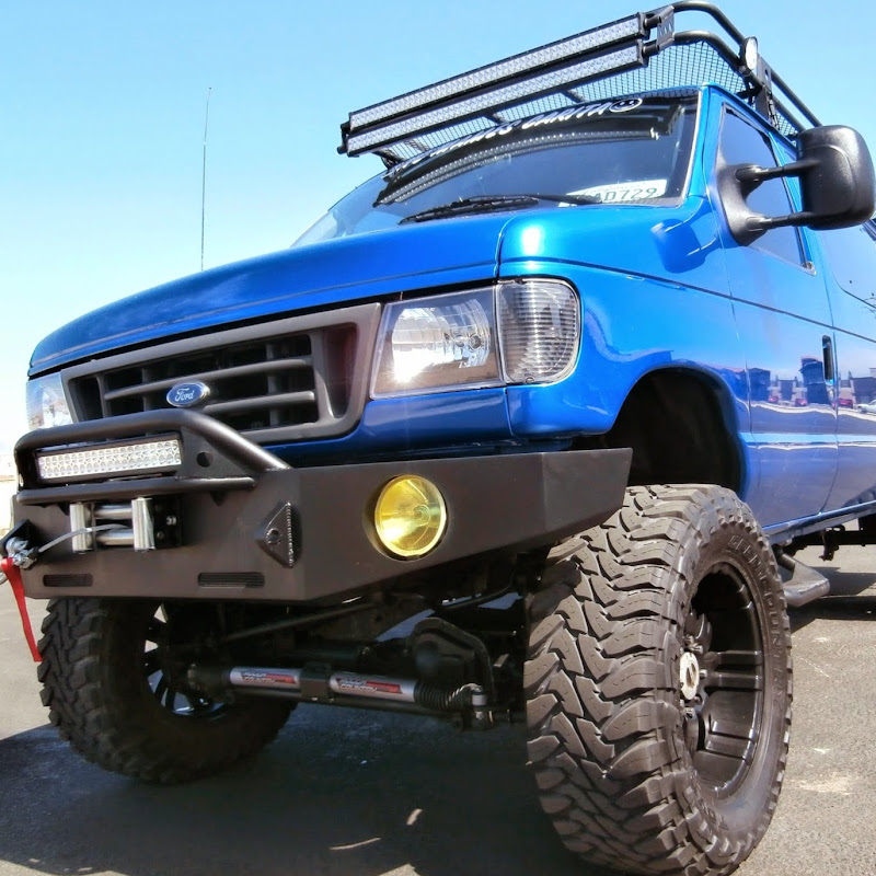 1995 FORD E-350 DIESEL VAN 4X4 LIFTED ON 35'S