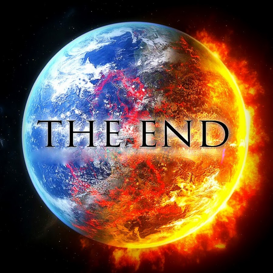 The End Colorful Watercolor and Ink Word Art — Stock Photo
