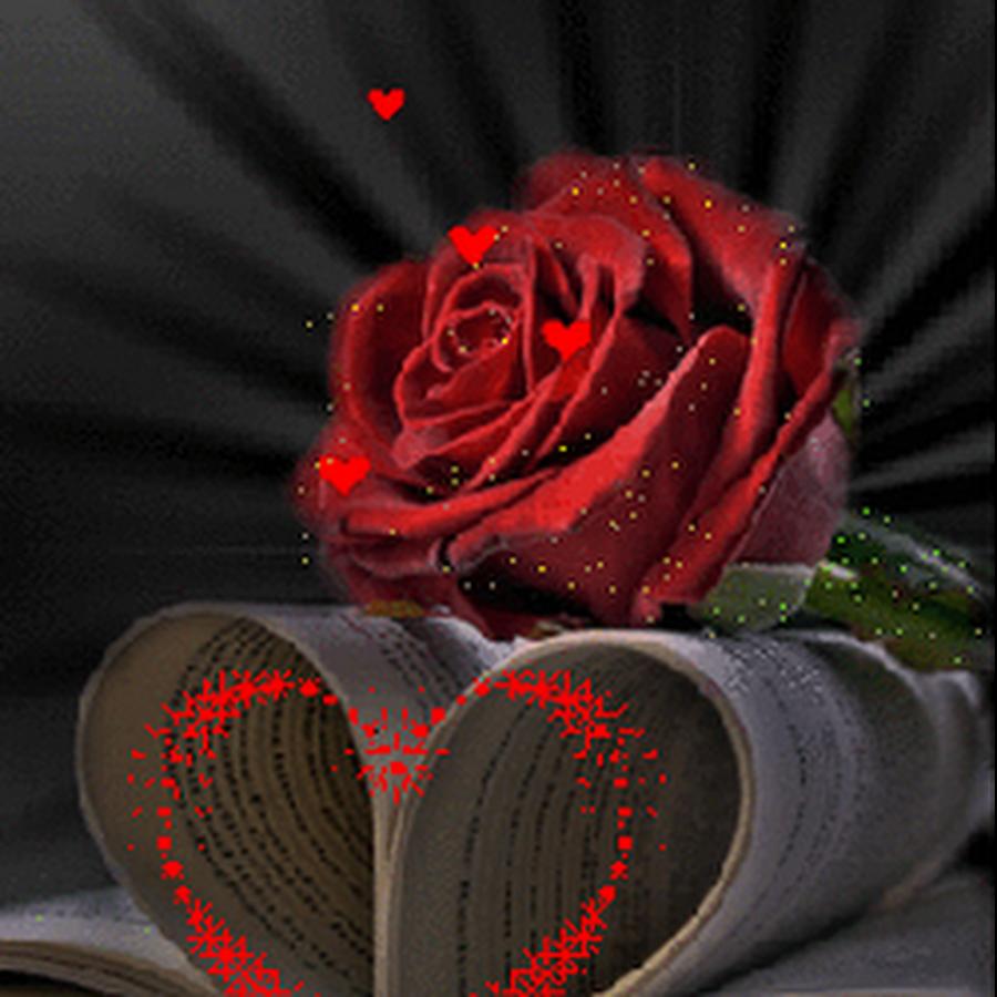 Гифы сердце и розы, скрапбукинг фотоальбом