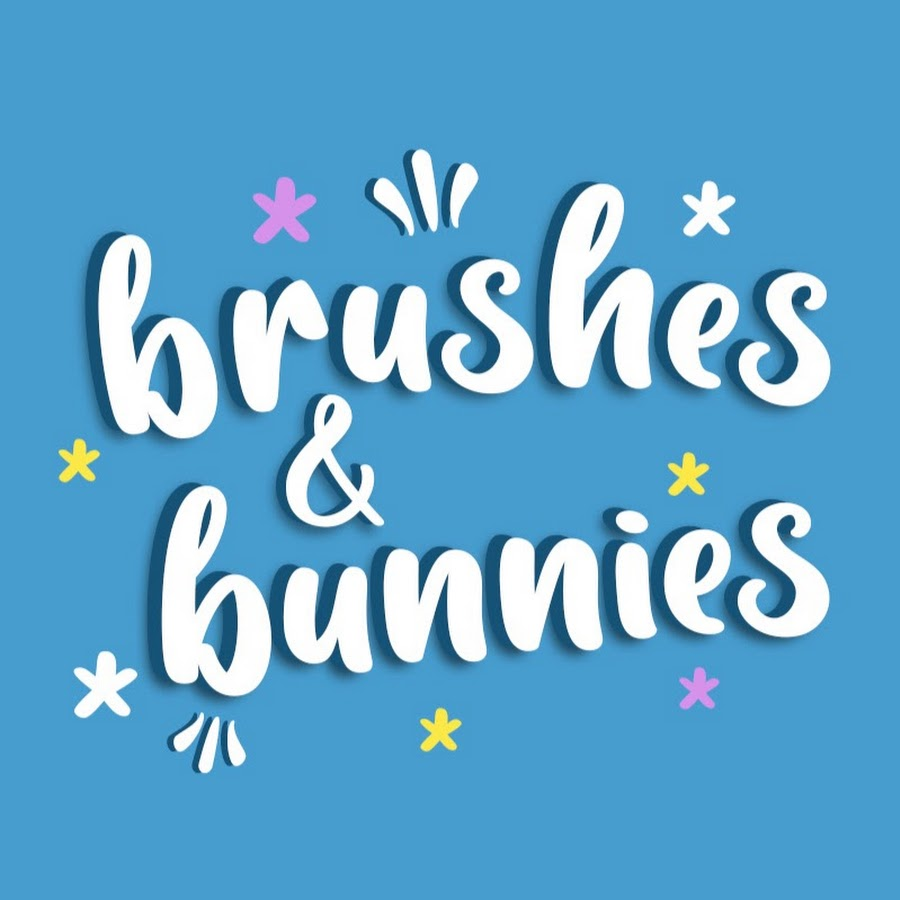 Brushes and bunnies art