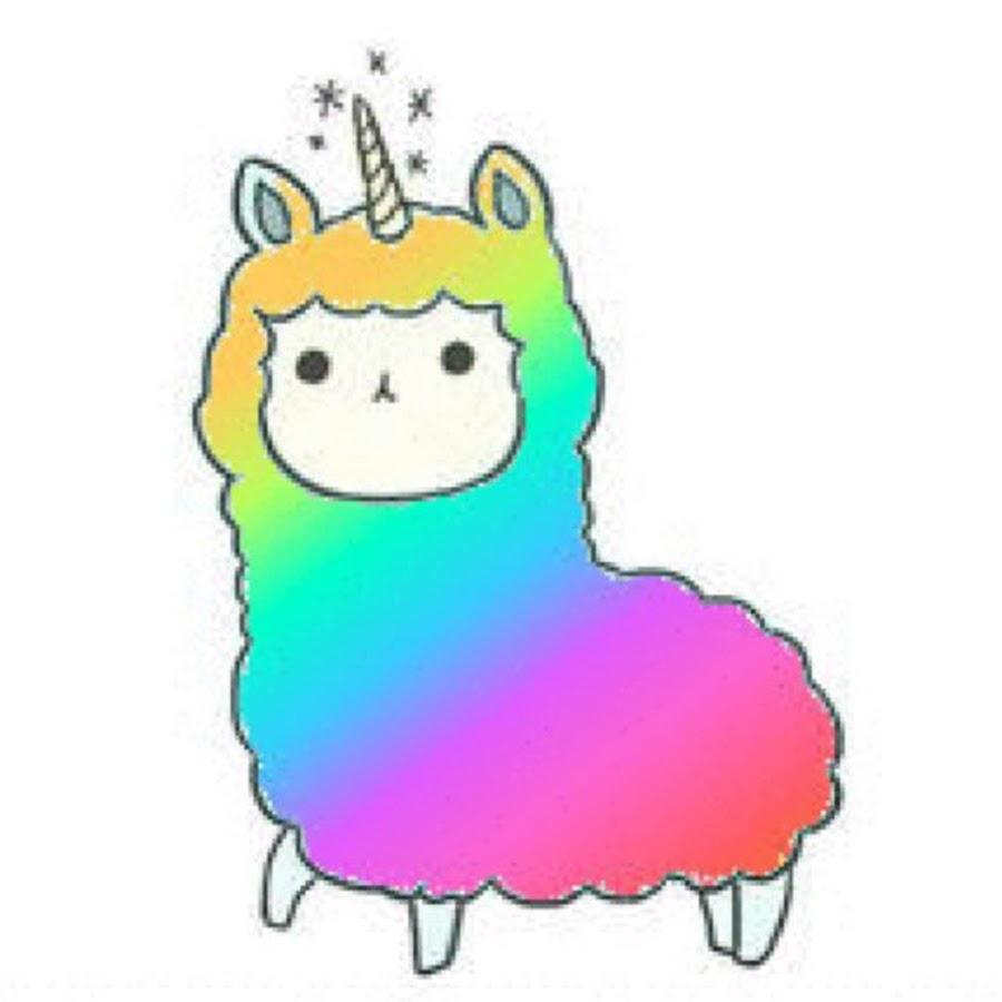Kawaii Rainbow Llama Youtube