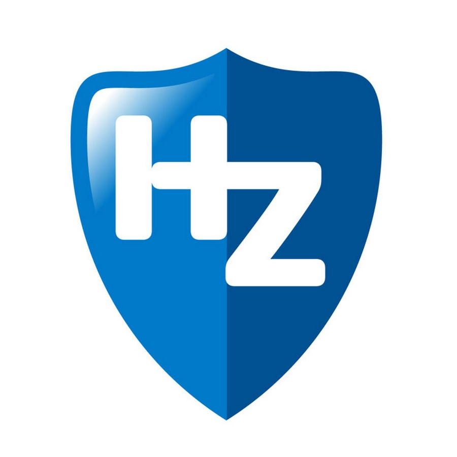 Initial letter HZ red swoosh logo swoosh logo — Stock