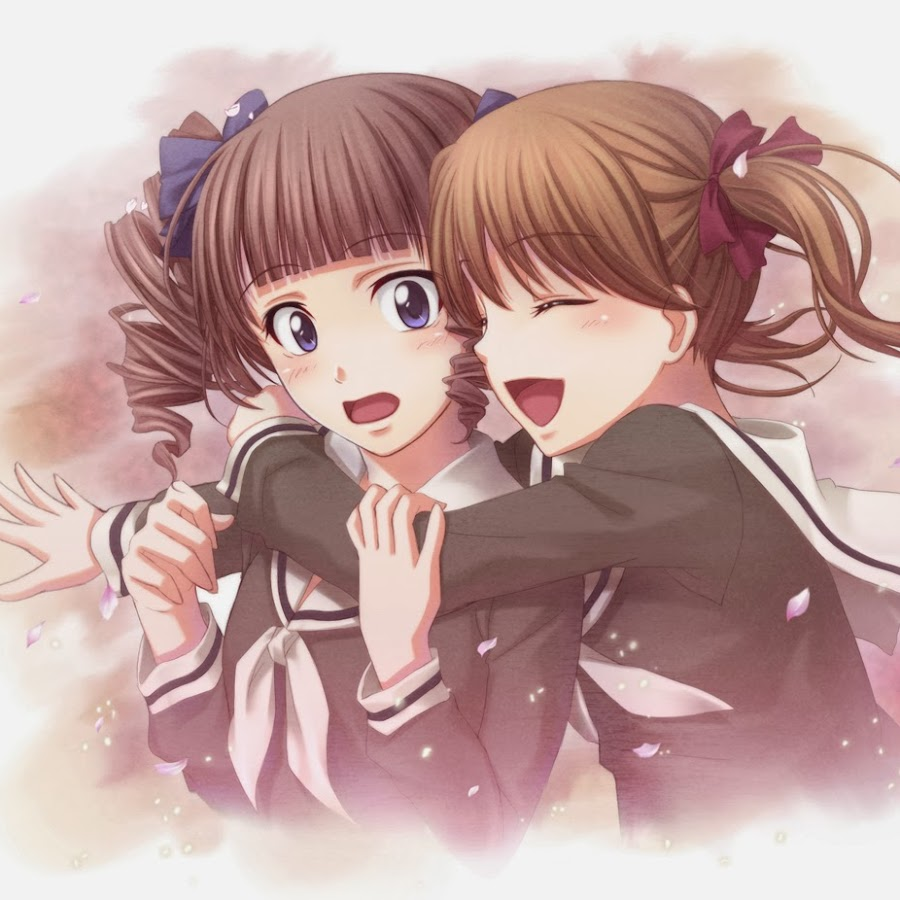 The popular Two Anime Girls Hugging GIFs everyones sharing