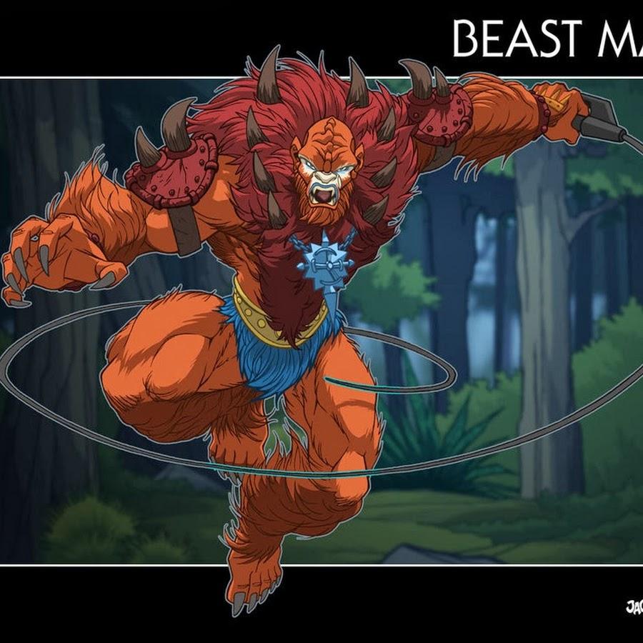 skeletor vs beast man - 900×750