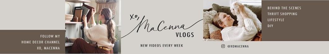 XO, MaCenna Vlogs Banner