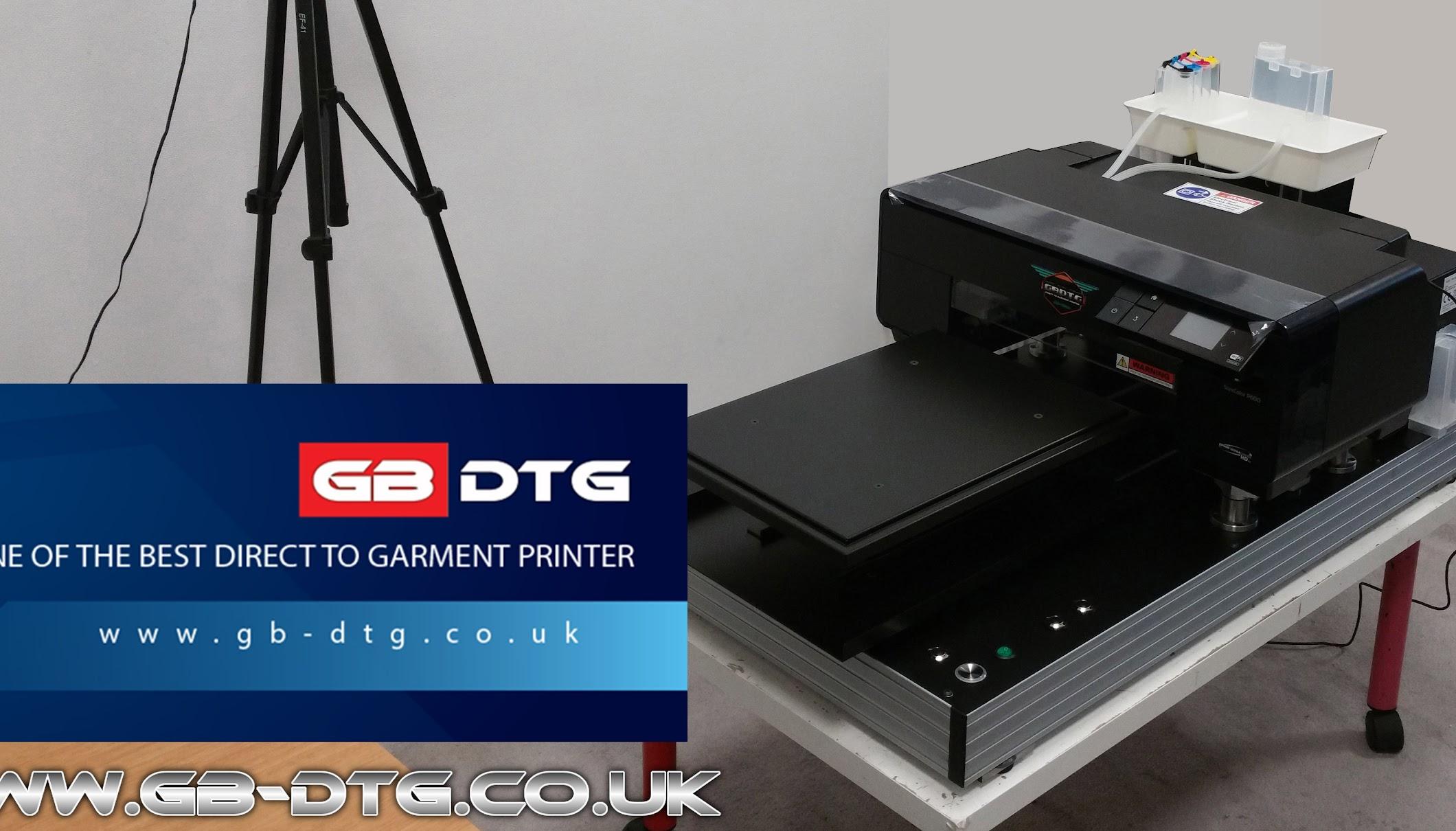 GB DTG PRINTER - YouTube