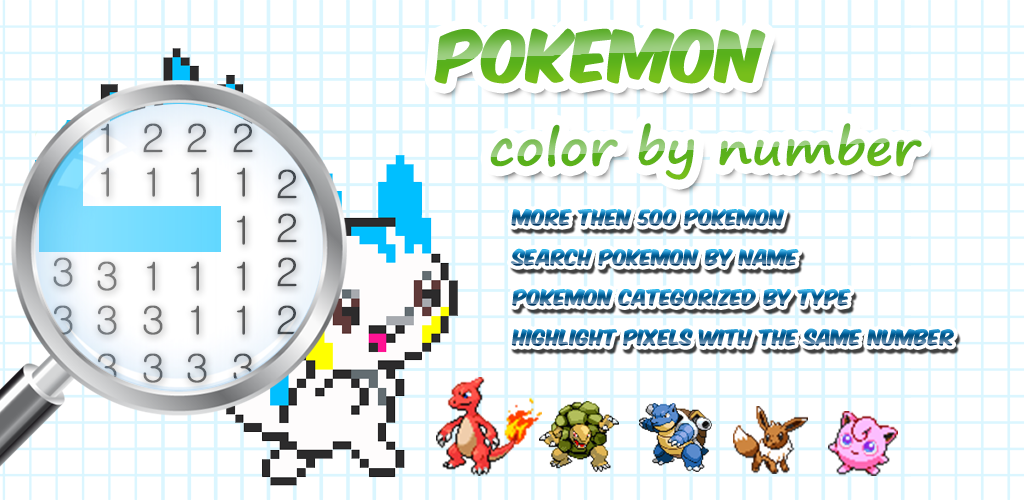 Color By Number Pokemon Pixel Art Apk Download Besuto Taimu