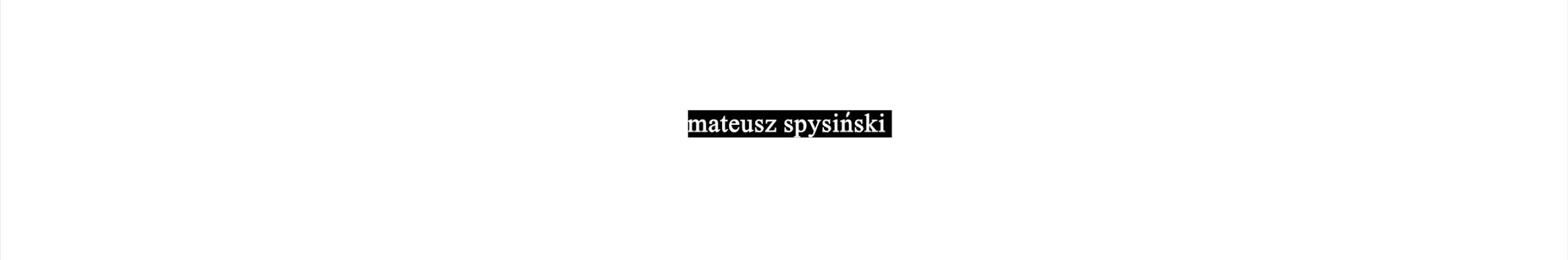 Mateusz Spysiński