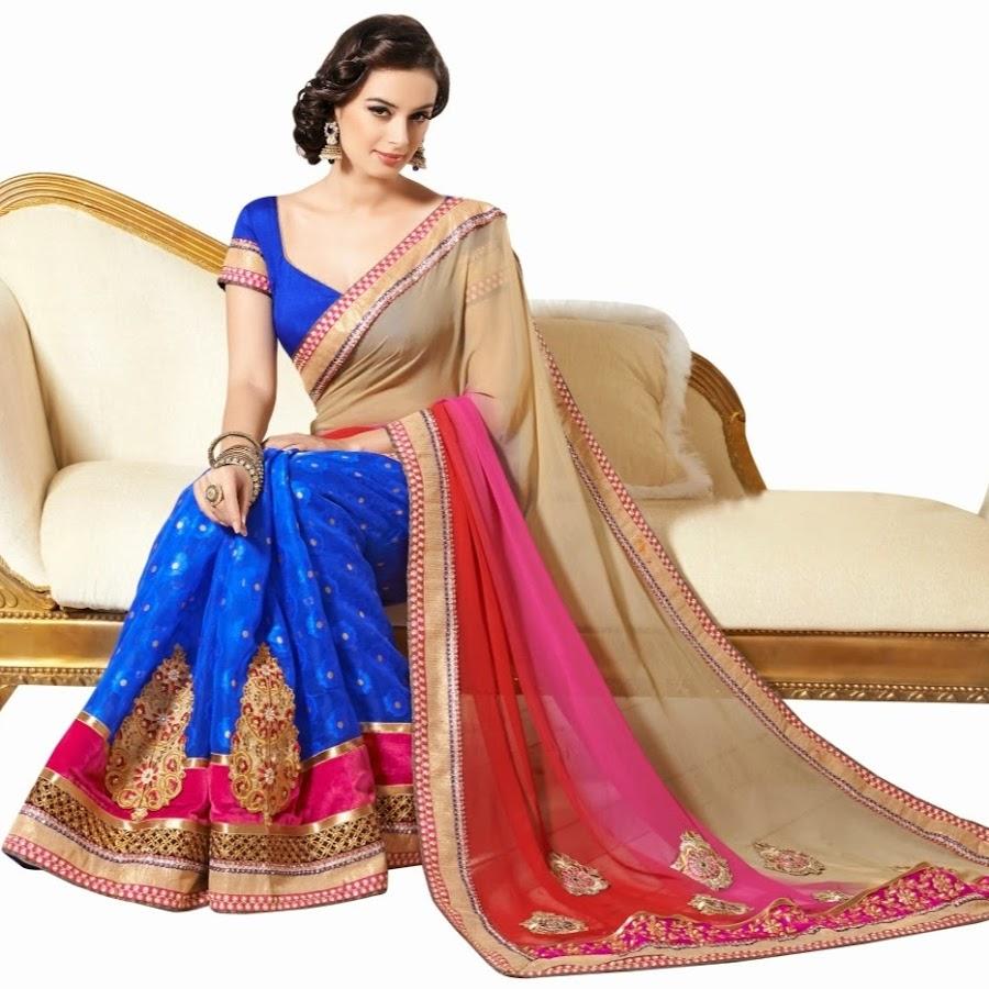428035343ec4f3 Designer sarees or bollywood sarees, salwar kameez, artificial jewellery -  YouTube
