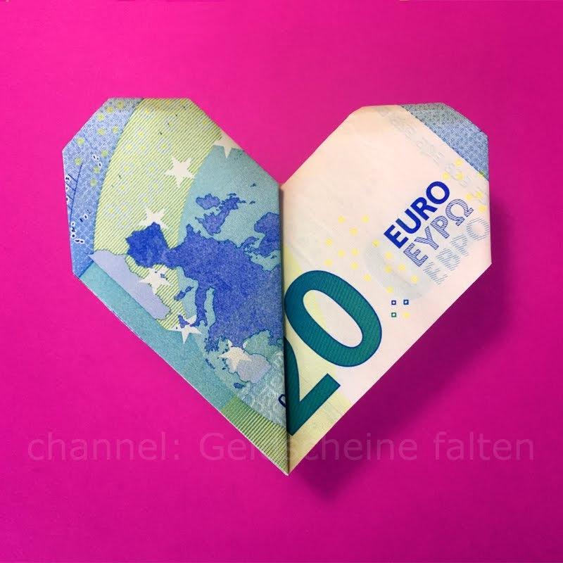 Geldscheine Falten Herz Geldgeschenke Hochzeit Basteln Geld