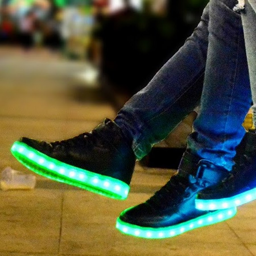 378651347017 Bright Led Shoes - YouTube