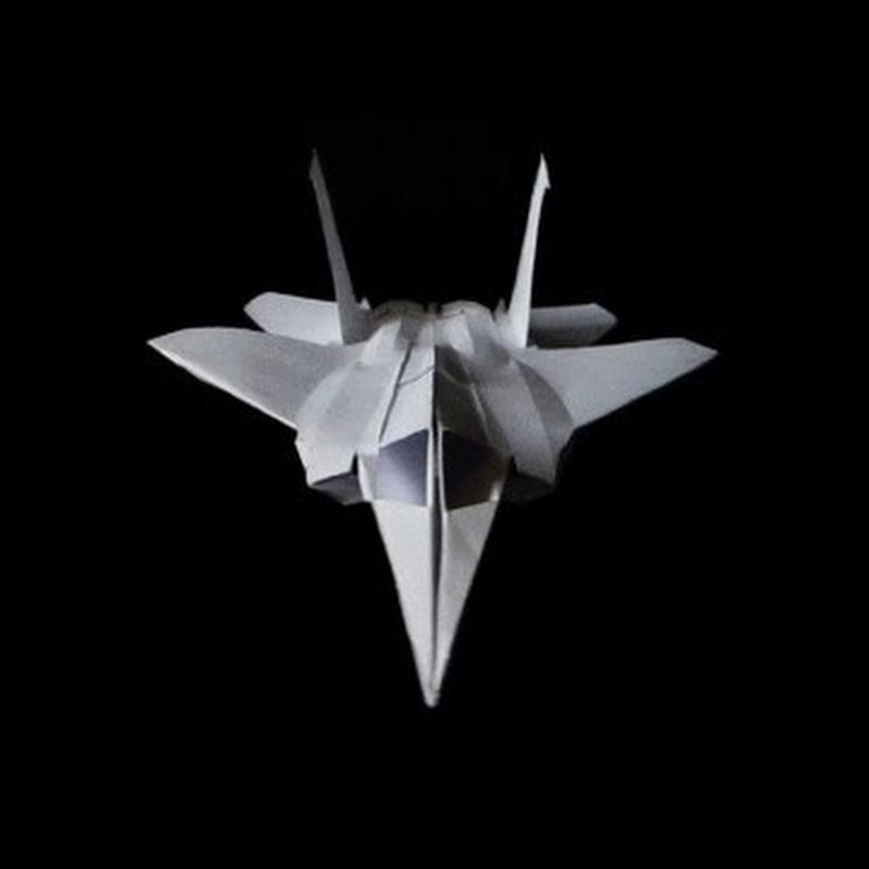 F15 Paper Fighter Plane (folded, No Glue)