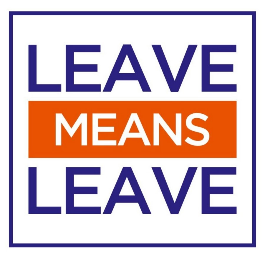 leave means leave youtube