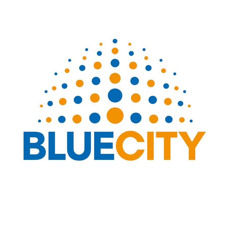 Znalezione obrazy dla zapytania blue city logo
