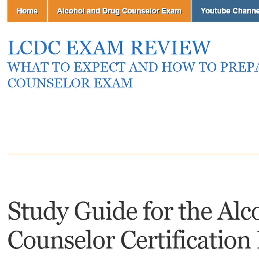 Lcdc Exam Review Youtube