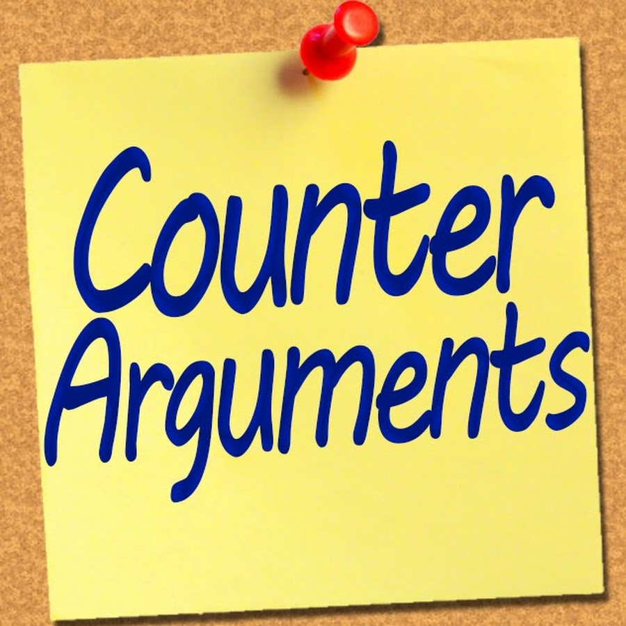 counterarguments Touch on the ideas that counterarguments are necessary to render the other side's argument impotent and that agreeing with some parts of a counterargument help appease the other side and may spur some agreement with the writer's side of the argument.