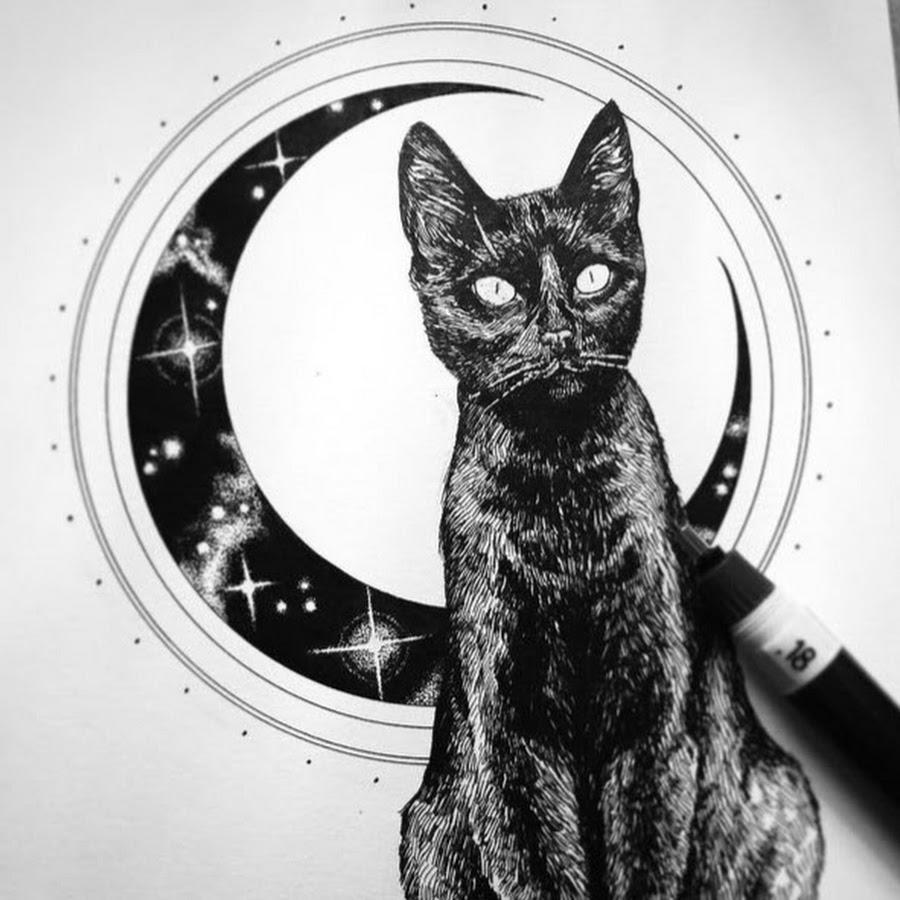 коты в черно белом цвете картины дело это